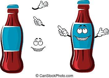 Cartoon isolated sweet soda bottle