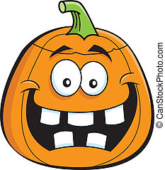 Cartoon Jack O Lantern - Cartoon illustration of a Jack O...