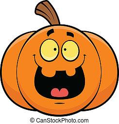 Cartoon Jack-o-Lantern Happy - Cartoon illustration of a ...
