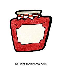 cartoon jam jar