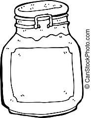 cartoon jam preserve