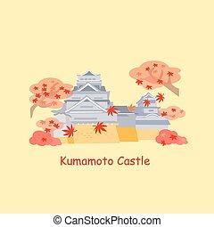 cartoon japan kumamoto castle - cute cartoon japan kumamoto...