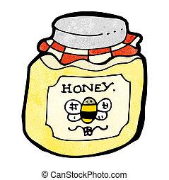 cartoon jar of honey