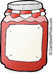 cartoon jar of jam