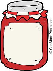 cartoon jar of preserve