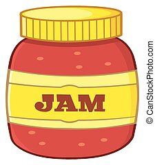 Cartoon Jar With Jam. Illustration Isolated On White ...