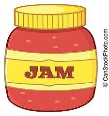 Cartoon Jar With Jam. Illustration Isolated On White ...