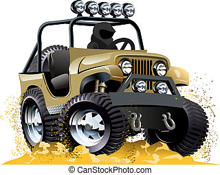 Cartoon jeep isolated on white background. Available EPS-10 ...