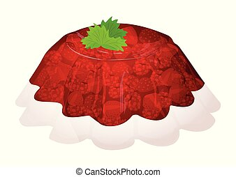 Cartoon jelly isolated on a white background. Vector illustration.