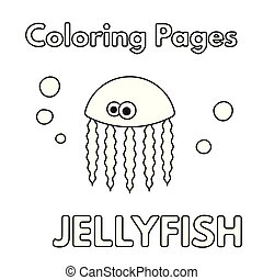 Cartoon Jellyfish Coloring Book