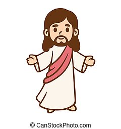 Cartoon Jesus drawing - Jesus Christ in cute cartoon style....