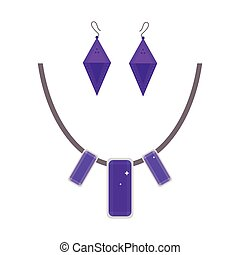 Cartoon jewelry accessories vector.