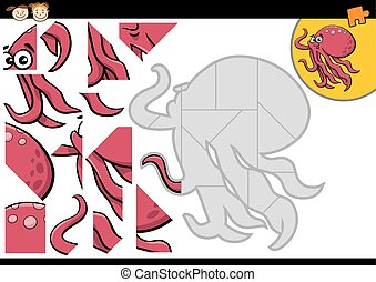 cartoon jigsaw puzzle game