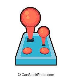 cartoon joystick controller retro game