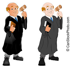 Cartoon Judge Character - Creative Abstract Conceptual...