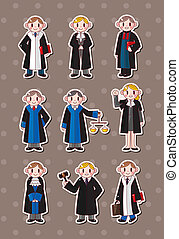 cartoon Judge stickers