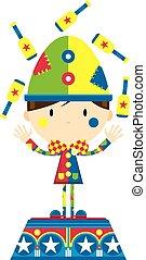 Cartoon Juggling Circus Clown