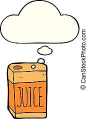 cartoon juice box and thought bubble - cartoon juice box ...