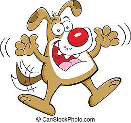 Cartoon jumping dog