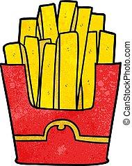 cartoon junk food fries