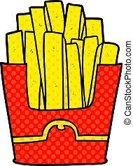 cartoon junk food fries