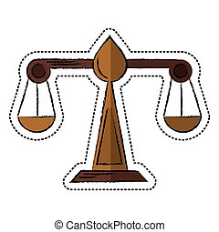 cartoon justice scale law symbol