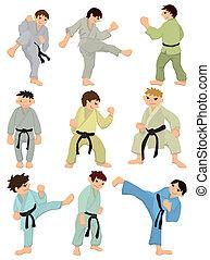 cartoon Karate Player icon  - cartoon Karate Player icon