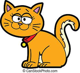 cartoon, kat