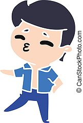 cartoon kawaii 1950 cute boy - cartoon illustration kawaii...