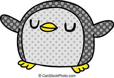 cartoon kawaii of a cute penguin