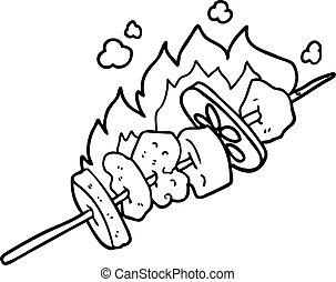 cartoon kebab sticks