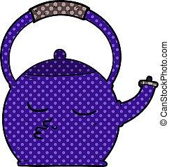 cartoon kettle