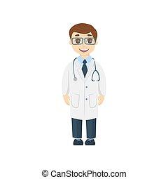 Cartoon kid doctor.