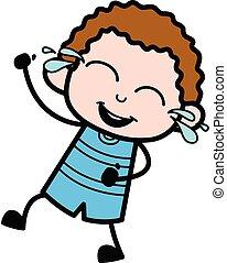 Cartoon Kid Laughing