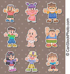 cartoon kid stickers