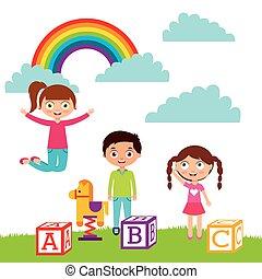 cartoon kids design