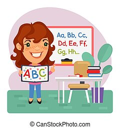 Cartoon Kids English Teacher