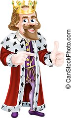 Cartoon King Man - Cartoon king character wearing a crown...