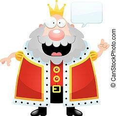 Cartoon King Talking