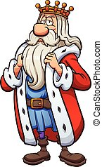 Cartoon king. Vector clip art illustration with simple...