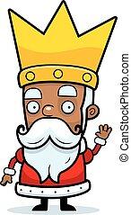 Cartoon King Waving - A cartoon illustration of a king...