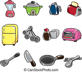 cartoon kitchen icon