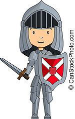 Cartoon knight character with sword