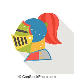 cartoon knight flat icon