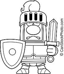 Cartoon Knight in Armor