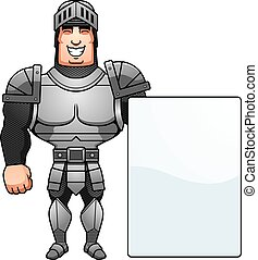 Cartoon Knight Sign