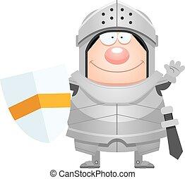 Cartoon Knight Waving
