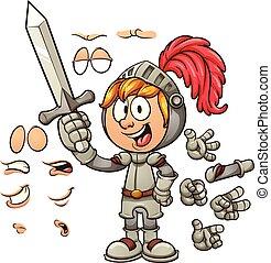 Cartoon knight