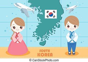 cartoon korea people