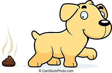 Cartoon Labrador Poop - A cartoon illustration of a Labrador...